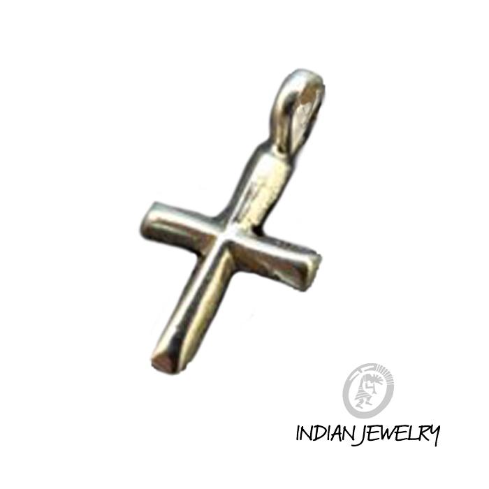 シンプル 十字架 人気ブレゼント インディアンジュエリー INDIAN JEWELRY クロス シルバーペンダント 海外並行輸入正規品 925 チェーン付き