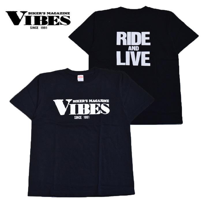 ベストセラー ロゴ入り 信憑 ブランド品 Tシャツ コットン100% 黒 ロゴ入りTシャツ 綿100% VIBES バイブス ブラック
