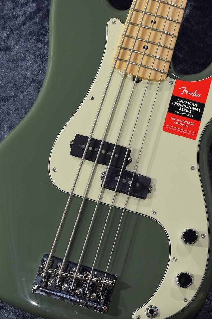 Fender American Professional Precision Bass V -Antique Olive/M-【NEW】【日本総本店ベースセンター在庫品】
