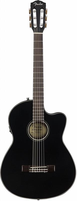Fender CN-140SCE Black 【クラギアクセサリー4点プレゼント】【お取り寄せ商品】【ナイロン弦】【おちゃのみず楽器】