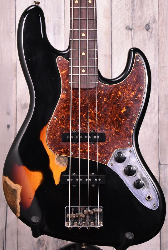 J.W.Black Guitars JWB-JP-JB Black over 3TS/R【NEW】【おちゃのみず楽器Mod】【おちゃのみず楽器在庫品】
