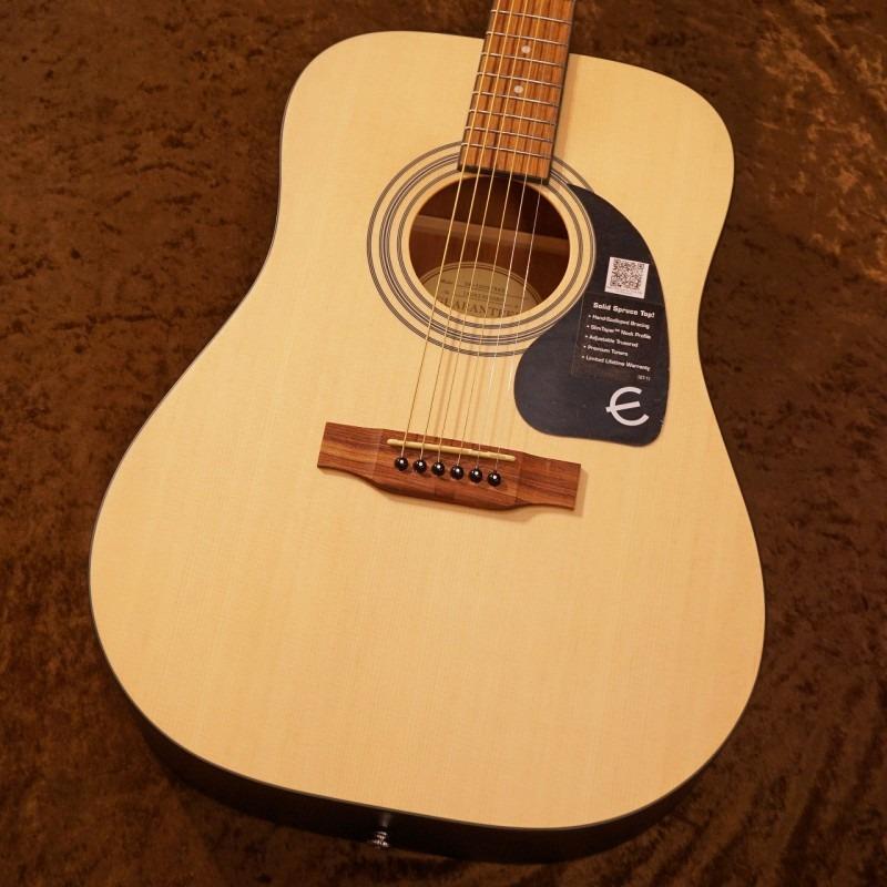Epiphone DR-100S [Natural] [トップ単板] 【G-CLUB TOKYO】【送料無料】【smtb-u】〔Acoustic Guitar アコギ〕