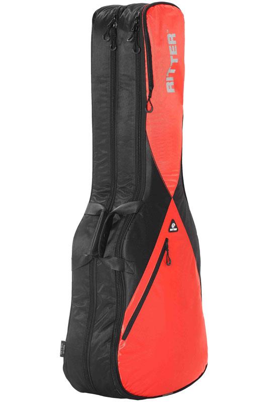 Ritter PERFORMANCE Series RGP5-DB -Double E-Bass- BRR (Black/Racing Red) 《ベース2本収納可能ケース》【ONLINE STORE】