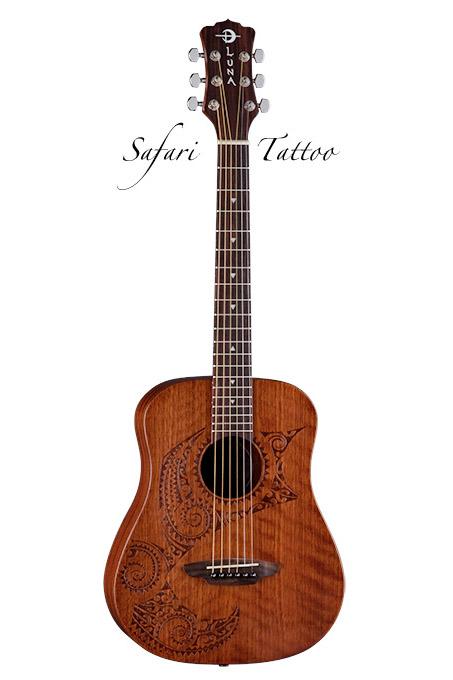 Luna Guitars Safari Series Tattoo [SAF TAT]《アコースティックギター》【送料無料】【ONLINE STORE】