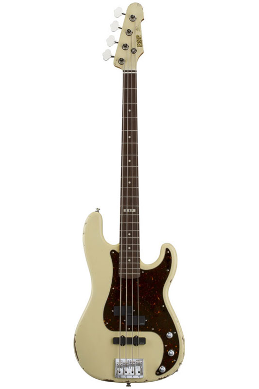 ESP Artist Series TOMMY STINSON [Tommy Stinson / トミー・スティンソン] (Distressed Vintage White)【受注生産品】【送料無料】【ONLINE STORE】
