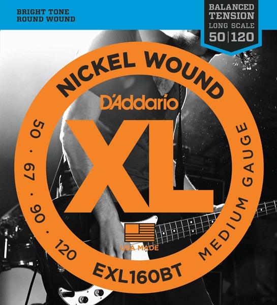 D'Addario EXL160BT XL Balanced Tension (50-120)《ベース弦》【5セット】 【送料無料】