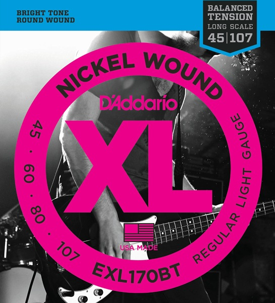 D'Addario EXL170BT XL Balanced Tension (45-107)《ベース弦》【5セット】 【送料無料】
