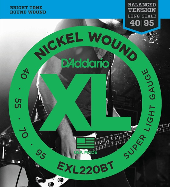 D'Addario EXL220BT XL Balanced Tension (40-95)《ベース弦》【10セット】 【送料無料】