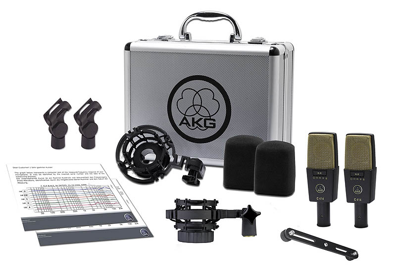 AKG STORE】 XLII/ST 《コンデンサーマイク/ステレオペアセット》【送料無料】【ONLINE 414 C