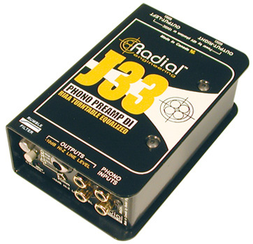 Radial J33 《ターンテーブル用ダイレクトボックス/DIボックス》【送料無料】【smtb-u】【ONLINE STORE】