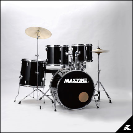MAXTONE MX-116 BLK (JET BLACK)《お薦め入門ドラムセット》【送料無料】【ONLINE STORE】