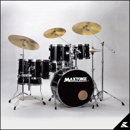MAXTONE MX-116CST (JET BLACK)(お薦め入門ドラムセット)(送料無料)