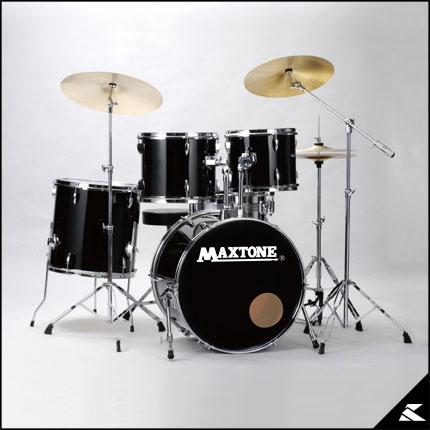 MAXTONE MX-116DX (JET BLACK)《お薦め入門ドラムセット》【送料無料】【ONLINE STORE】