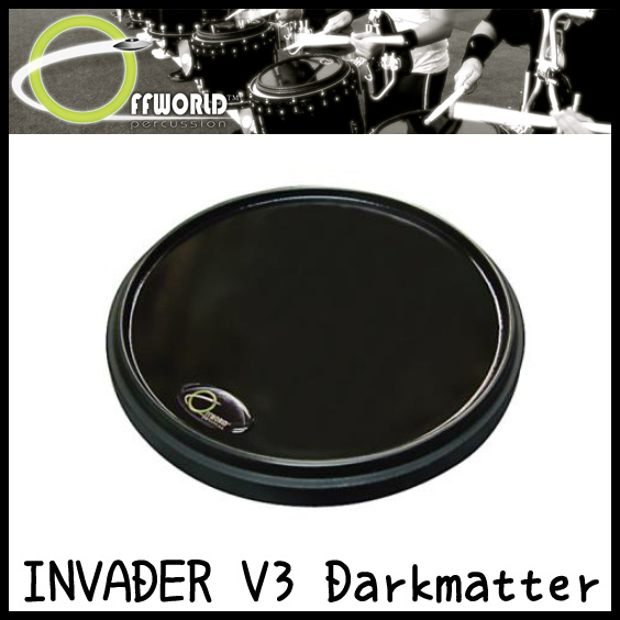 OFFWORLD Percussion INVADER V3 Darkmatter 練習用 ドラムパッド【送料無料】【sntb-u】【ONLINE STORE】
