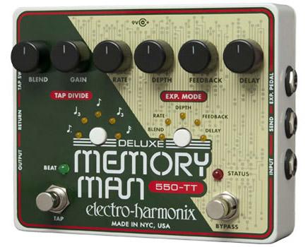 Electro-Harmonix Deluxe Memory Man Tap Tempo 550 Analog Delay《エフェクター/ディレイ》【送料無料】【ONLINE STORE】