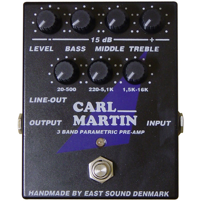 Carl Martin 3 BAND PARAMETRIC PREAMP 《プリアンプ/イコライザー》【送料無料】【ONLINE STORE】
