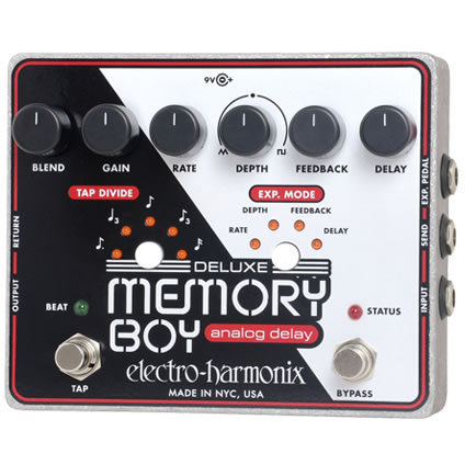 Electro-Harmonix Deluxe Memory Boy Analog delay with tap tempo《エフェクター/ディレイ》【送料無料】【ONLINE STORE】