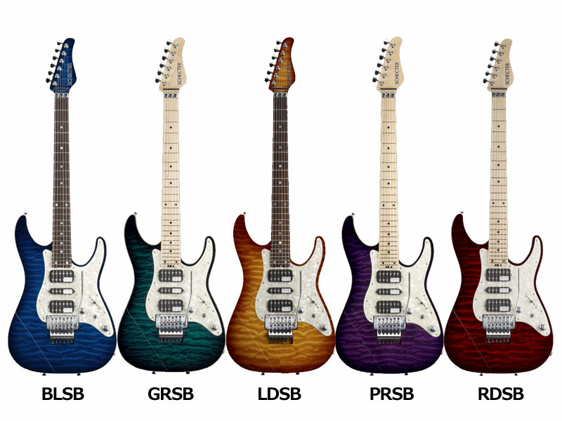 Schecter SD DELUXE SD-DX-24-AS BLSB/GRSB/LDSB/PRSB/RDSB 【送料無料】【ONLINE STORE】