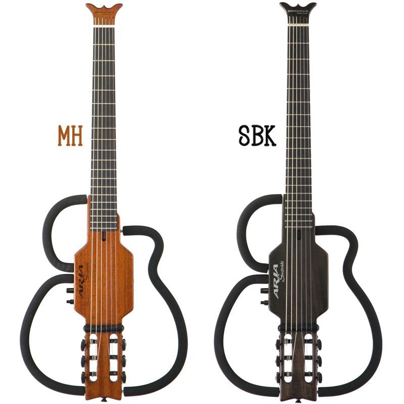 Aria Sinsonido AS-101C/SPL Nylon Strings(MH/SBK)《ナイロン弦サイレントギター》【送料無料】(納期未定・ご予約受付中)【ONLINE STORE】