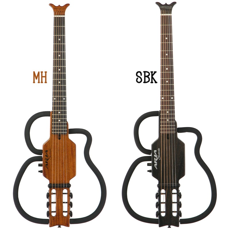 Aria Sinsonido AS-101S Steel Strings (MH/SBK) 《スチール弦サイレントギター》【送料無料】(納期未定・ご予約受付中)【ONLINE STORE】