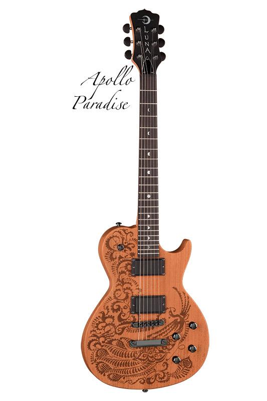 Luna Guitars Apollo profile etched henna design mah 《エレキギター》【送料無料】【ONLINE STORE】
