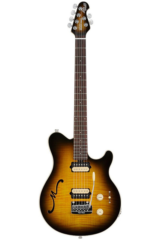 MUSICMAN Axis Super Sport Semi-Hollow Body HH trem Rosewood Fingerboard,Matching Headstock (Tabacco Burst)【送料無料】【受注生産品】【ONLINE STORE】