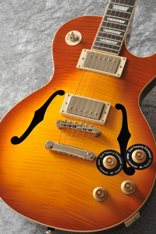 Epiphone Ltd. Ed. Les Paul Standard Florentine PRO f-hole (Honey Burst) [ENFSHBNH3] (送料無料)(マンスリープレゼント)