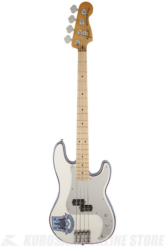 Fender Steve Harris Precision Bass, Maple Fingerboard, Olympic White 《ベース》【ONLINE STORE】