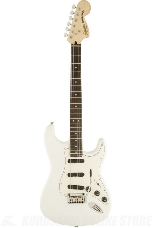 SQUIER Deluxe Models Series / Deluxe Hot Rails Strat, Rosewood Fingerboard, Olympic White《エレキギター》【ONLINE STORE】