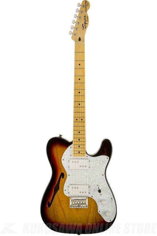 SQUIER Vintage Modified Models Series / Vintage Modified '72 Tele Thinline, Maple Fingerboard, 3-Color Sunburst《エレキギター》【ONLINE STORE】