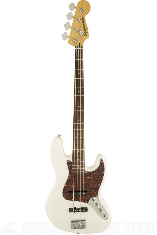 SQUIER Vintage Modified Models Series / Vintage Modified Jazz Bass, Rosewood Fingerboard, Olympic White《ベース》【ONLINE STORE】