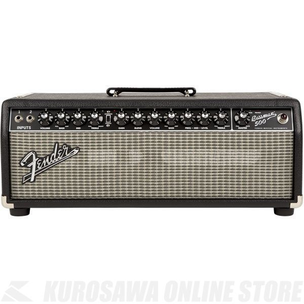 Fender Bassman 500 Head, 100V JPN, Black/Silver 《ベース》【ONLINE STORE】