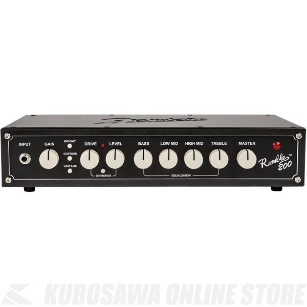 Fender Rumble 200 Head (V3), 100V JPN, Metallic Black 《ベース》【ONLINE STORE】