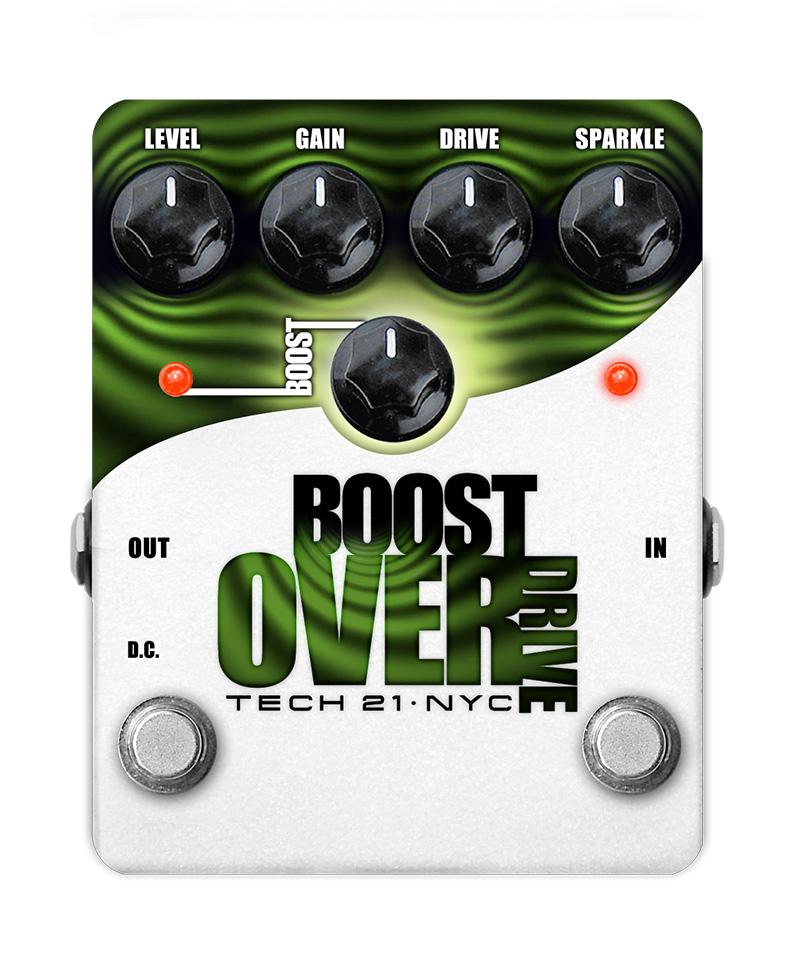 TECH21 SansAmp Boost OVER DRIVE 《エフェクター/オーバードライブ》【送料無料】【クロサワ楽器池袋店WEB SHOP】