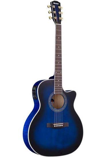 Morris R-601 SBUB(シースルーブルーブラックバースト)《アコースティックギター》《エレアコ》 【送料無料】【クロサワ楽器池袋店WEB SHOP】