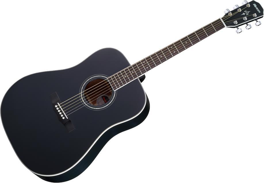 Morris M-351 BLK(ブラック)《アコースティックギター》 【送料無料】【クロサワ楽器池袋店WEB SHOP】