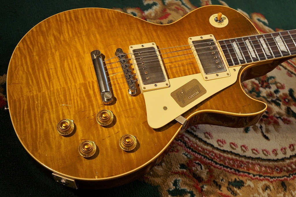 〔新品〕Gibson〈ギブソン〉 Custom Shop True Historic 1959 Les Paul ReissueMurphy AgedGreen Lemon(#96627) [現地選定材使用][レスポール]【G'CLUB TOKYO】【エレキギター】【送料無料】【smtb-u】