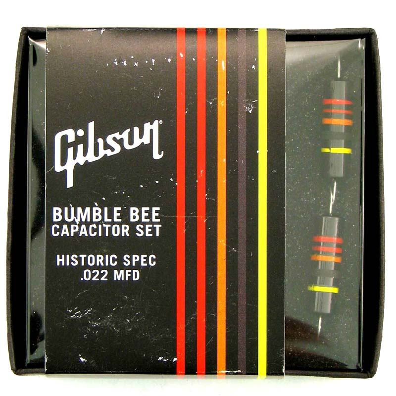 Gibson Gear Historic Bumble Bee Capacitors 2-pack [PCAP-059] 《パーツ・アクセサリー/ コンデンサ 》【ギブソン純正】【ONLINE STORE】