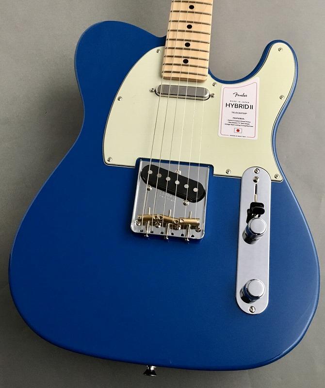 フェンダー テレキャスター Fender Made in Japan Hybrid II Forest 授与 新作アイテム毎日更新 ロゴ入りストラップ付 #JD21011813 G-CLUB Blue 渋谷店 3.34kg Telecaster