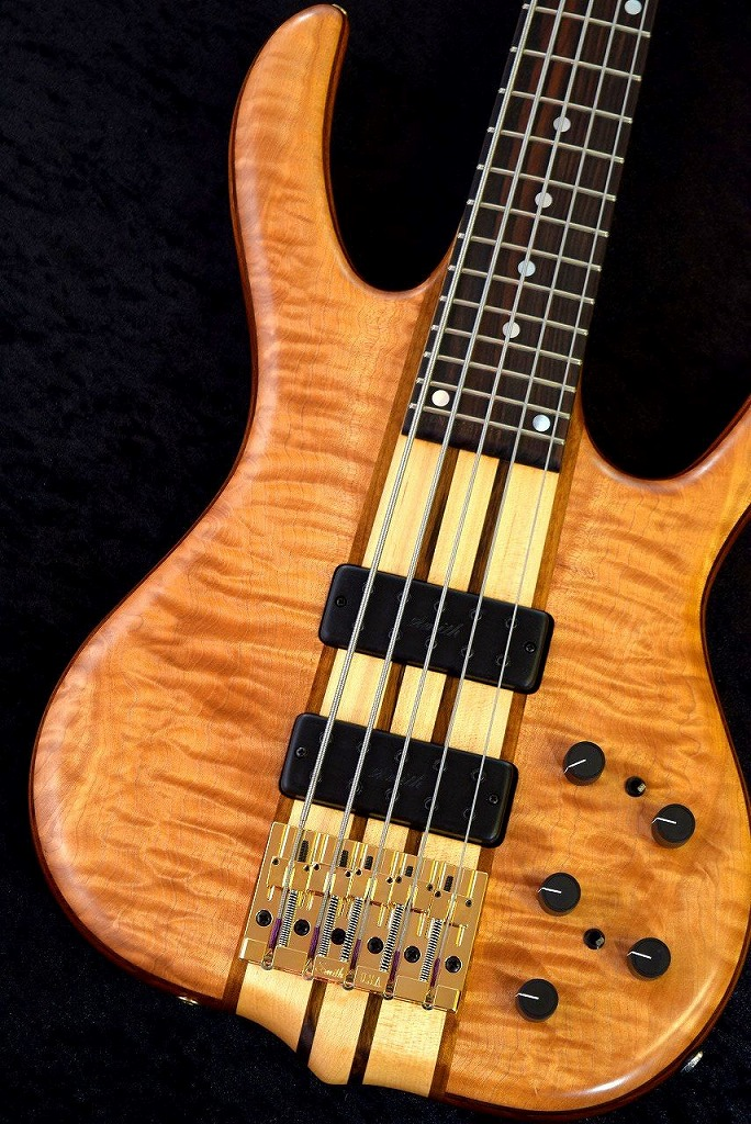 KenSmith BSR5GN-QN Quilted Maple Top&Back,Mahogany Core 5pc Boby -Oil Finish-【NEW】【日本総本店ベースセンター在庫品】