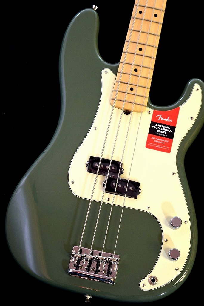 Fender American Professional Precision Bass -Antique Olive/M-【NEW】※軽量個体 !【日本総本店ベースセンター在庫品】