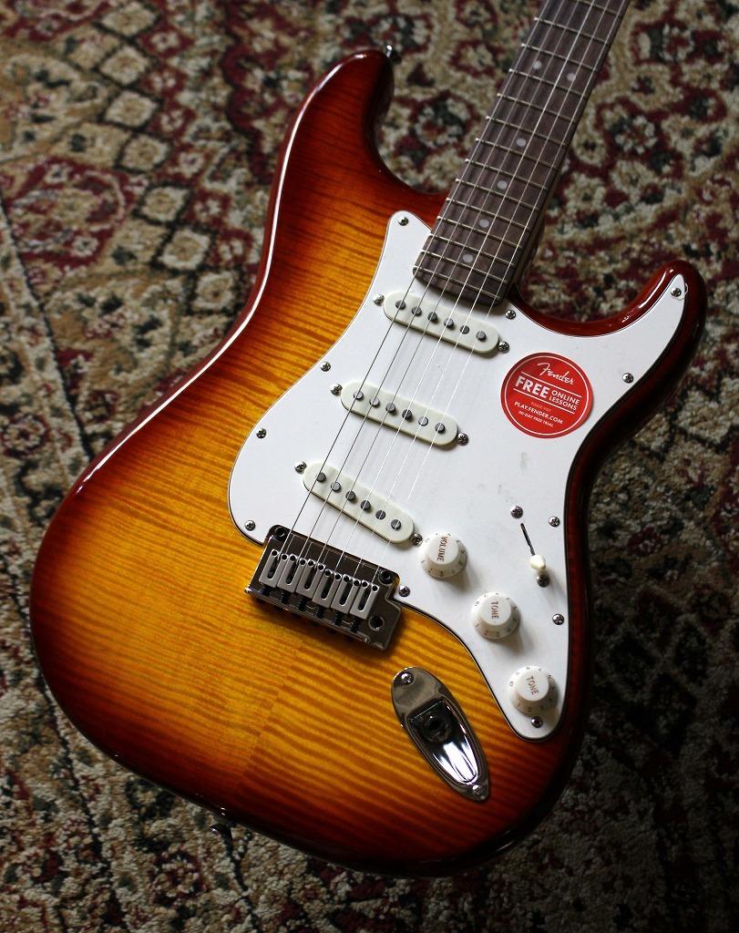 Squier by Fender Standard Stratocaster FMT Amber Burst【池袋店在庫品】