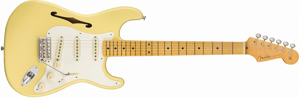 【新品】Fender Eric Johnson Signature Stratocaster Thinline ~Vintage White~ 【お取り寄せ】【送料無料】【池袋店】