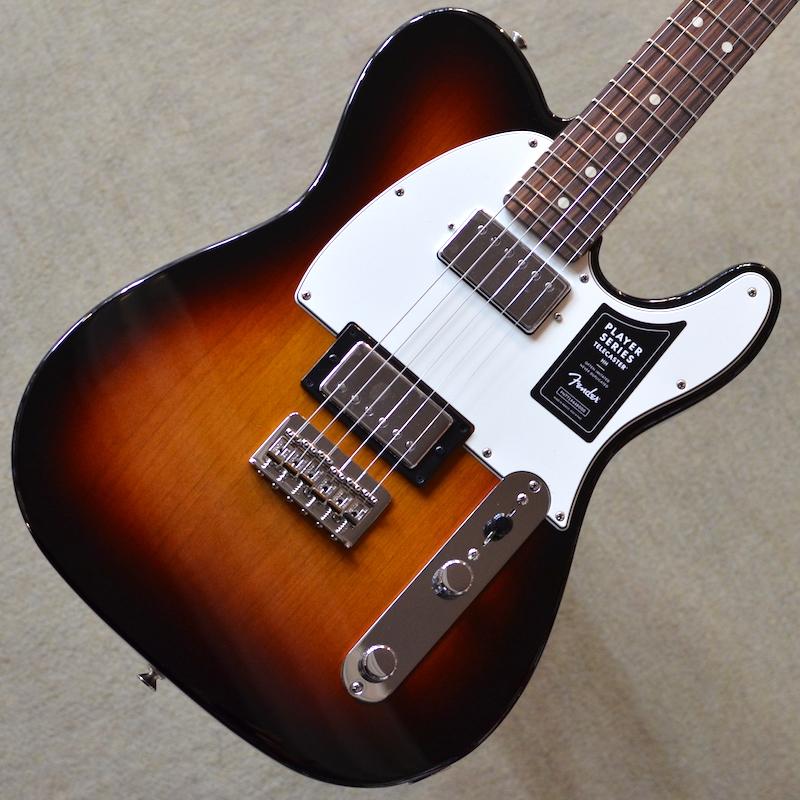 【新品】Fender Player Telecaster HH Pau Ferro Fingerboard ~3-Color Sunburst~ #MX18157471 【3.59kg】【22フレット】【コイルタップ】【ハムバッカー】【バック・コンター】【送料無料】【池袋店在庫品】