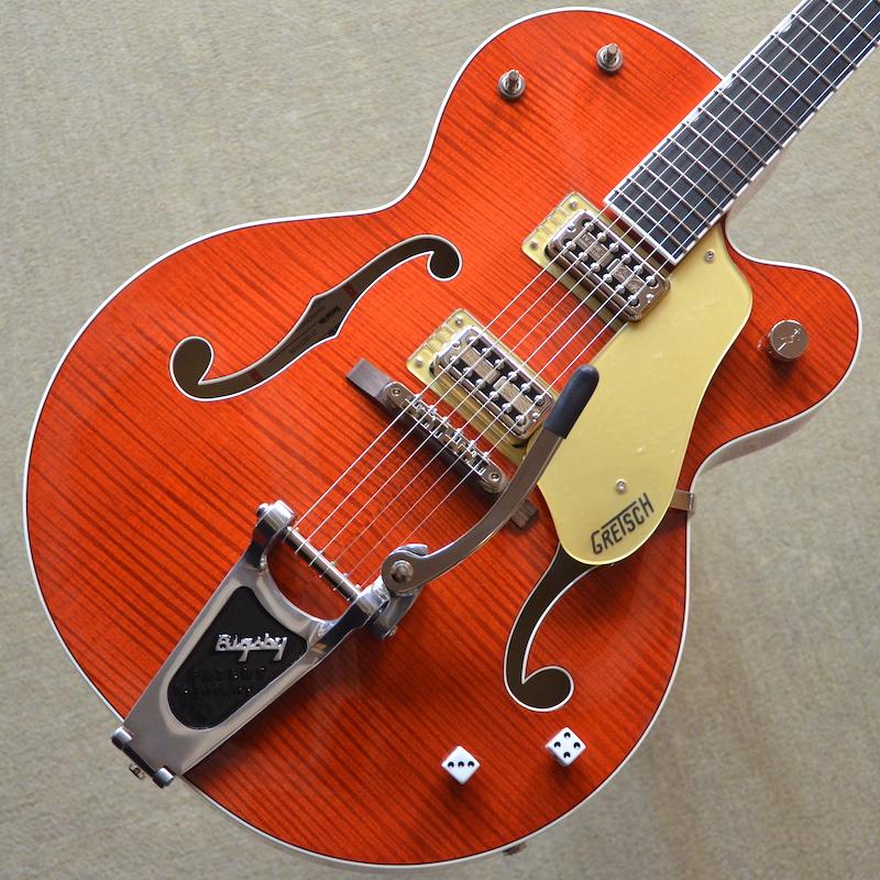 【新品】Gretsch G6120SSL Brian Setzer Nashville / Orange Lacquer #JT18073104 【3.29kg】【ラッカーフィニッシュ】【エボニー指板】【ブライアン・セッツァー・モデル】【TV Jones ピックアップ】【送料無料】【池袋店在庫品】