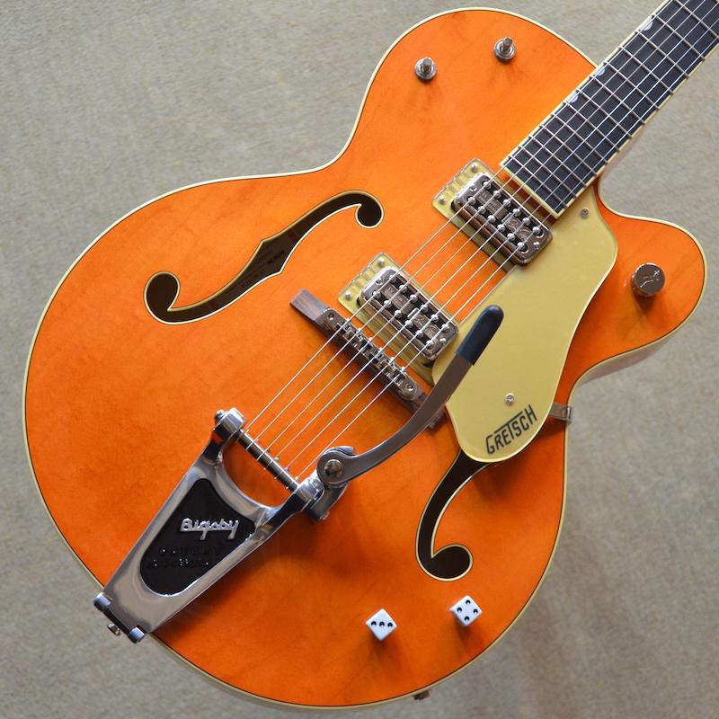 【新品】Gretsch G6120SSLVO Brian Setzer Nashville / Vintage Orange Lacquer #JT18073114 【3.32kg】【ブライアン・セッツァー・モデル】【ラッカーフィニッシュ】【TV Jones ピックアップ】【エボニー指板】【ロックペグ】【送料無料】【池袋店在庫品】