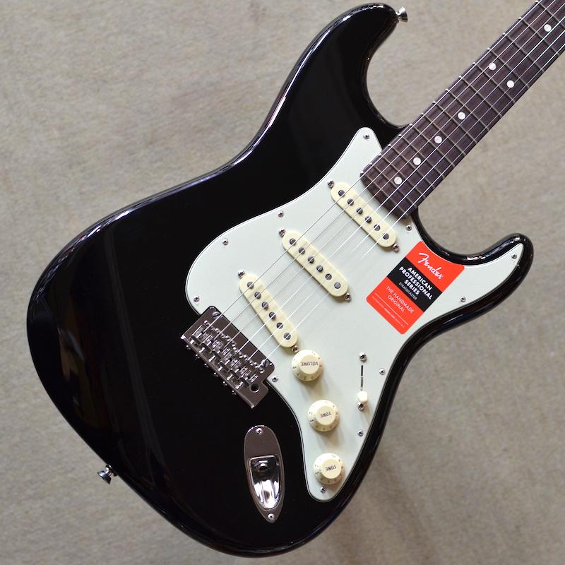 【新品】Fender American Professional Stratocaster Rosewood Fingerboard ~Black~ #US18085126 【3.49kg】【選定個体】【22フレット】【USA製】【送料無料】【池袋店在庫品】