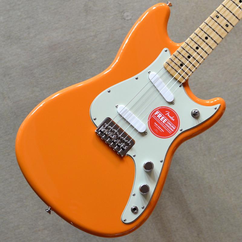 【新品特価】Fender Duo-Sonic ~Capri Orange~ #MX19007175 【軽量2.99kg】【ショートスケール】【22フレット】【送料無料】【池袋店在庫品】
