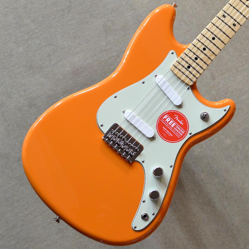 【新品特価】Fender Duo-Sonic ~Capri Orange~ #MX19007173 【軽量3.02kg】【ショートスケール】【22フレット】【送料無料】【池袋店在庫品】