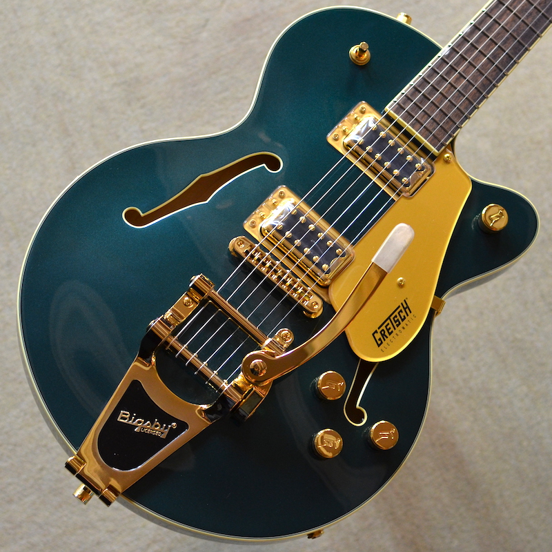 【新品】Gretsch G5655TG Electromatic Center Block Jr. Single-Cut with Bigsby Cadillac Green #CYGC19020033 【3.15kg】【セミアコ】【送料無料】【池袋店在庫品】